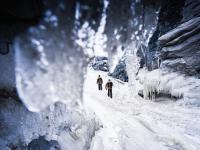 Kangerlussuaq Frozen Waterfall
