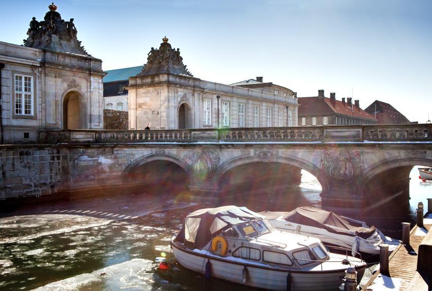 Bridge outside Christiansborg Castle